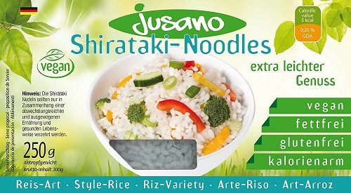 Jusano Shirataki Noodles - Rice Art, 5er Pack (5x250 g)